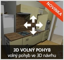 Voln pohyb ve 3D nvrhu