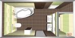 3D návrh koupelny bamboo