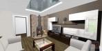 3D návrhy obývacích pokojů