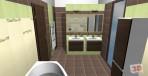 Návrh koupelny obklady bamboo