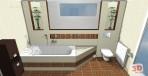 Návrh koupelny moderní zebrano