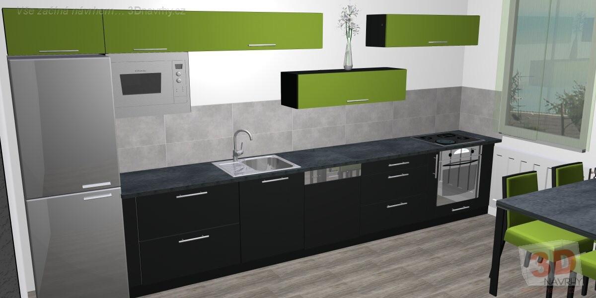 909d7f3e53e7 Návrhy kuchyní moderní zelená