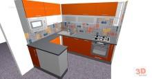 Návrhy kuchyní panelákková rohová