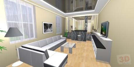 Návrhy interiérů obývák velký