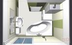 Návrh koupelny shora