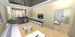 návrh obývacího pokoju a napínaný strop