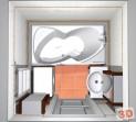 Návrh koupelny v paneláku