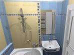 3D návrh koupelny v paneláku obklad La Futura Rexona 25x35 cm