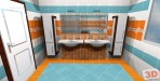 3D návrh luxusní koupelny