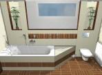 Návrh luxusní koupelny RAKO Zebrano