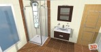 3D návrh luxusní koupelny nábytek Lebon