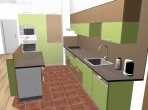 návrh kuchyně bar