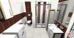 3D návrh luxusní koupelny RAKO obklad Spirit