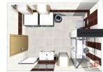 Návrh luxusní koupelny shora