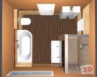3D návrh luxusní koupelny mix