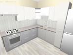 3D návrh panelákové kuchyně