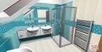 3D návrh luxusní koupelny Imagine Bathroom serie Sensual / Art