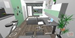 3D návrhy obývacích pokojů č.23