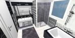 3D návrh luxusní koupelny černá