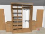 návrh vestavěné skříňě