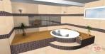 3D návrh sauny v suterénu