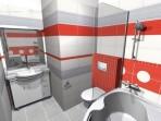 3D návrh koupelny RAKO serie Mikado