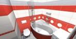 3D návrh koupelny RAKO obklad Mikado