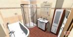 3D návrh koupelny obklady