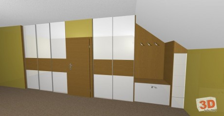 3D návrhy vestavěné skříně