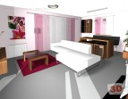 3D návrh obývacího pokoje
