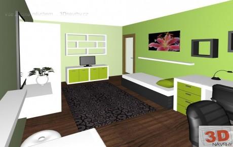 3D návrhy dětských pokojů