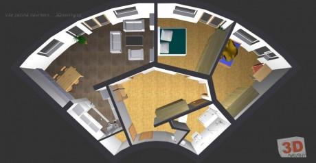 3D návrhy interiérů - komerční
