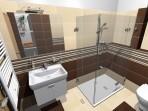 Koupelna RAKO dlažba Defile béžová a hnědá