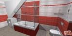 Moderní koupelna červená