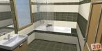 Mala moderní koupelna zelená