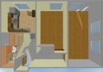 3D Návrh rekonstrukce bytu 2+1