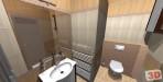 Rekonstrukce bytu 2+1 - návrh koupelny zrcadlo