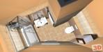 Rekonstrukce bytu 2+1 - návrh koupelny shora