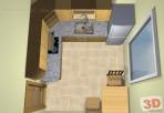 Rekonstrukce bytu 2+1 - kuchyně s hora