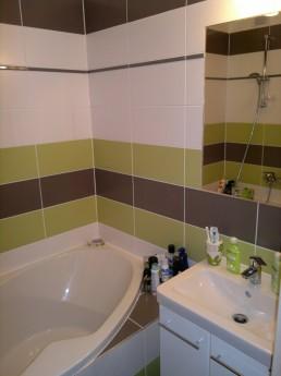 Rekonstrukce panelového bytu - realizace koupelny