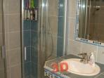 Koupelny fotogalerie inspirace - vyzděny pult pro umyvadlo