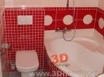 Koupelny fotogalerie inspirace - obklady RAKO, vana Rosa