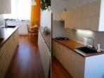 Kuchyně paneláková Bříza + Třešeň