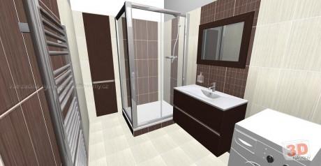 3D návrh luxusní koupelna