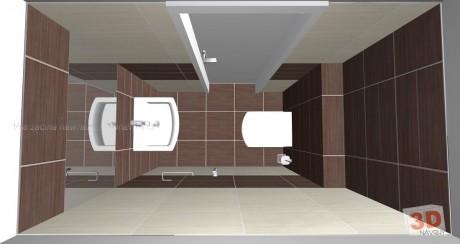 3D návrh luxusního WC