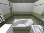 Rekonstrukce panelového bytu - koupelna vana