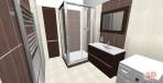 3D návrh koupelny Wenge