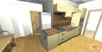 3D návrh kuchyně do paneláku