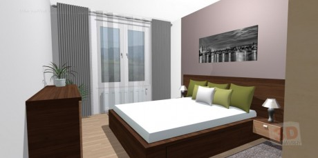 3D návrhy ložnice