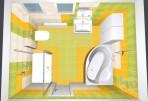 3D návrh koupelny Inspirace